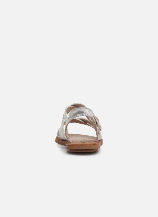 Sandales et nu-pieds TOMS Sicily Argent vue droite