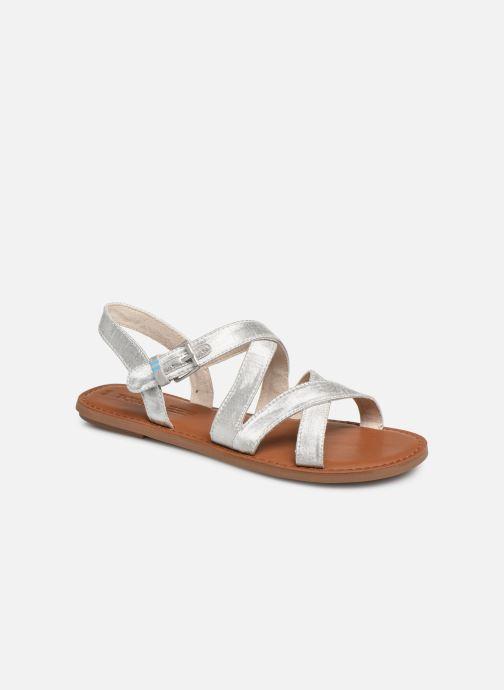 Sandales et nu-pieds TOMS Sicily Argent vue détail/paire
