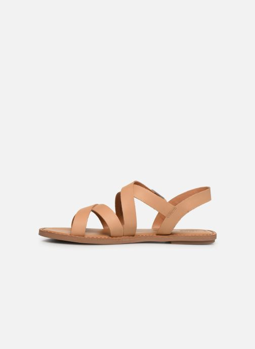 Sandales et nu-pieds TOMS Sicily Beige vue face