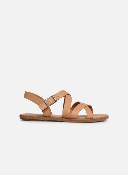 Sandales et nu-pieds TOMS Sicily Beige vue derrière