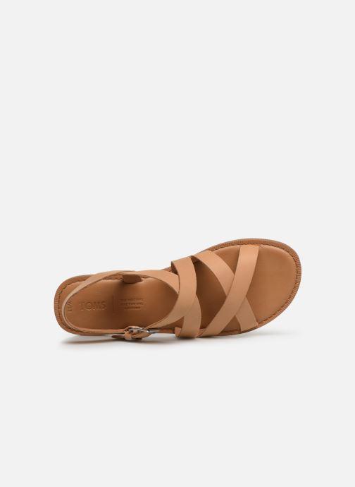 Sandales et nu-pieds TOMS Sicily Beige vue haut