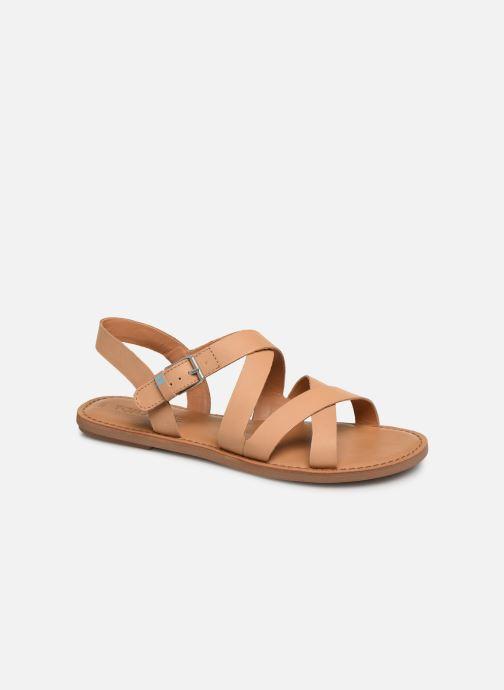 Sandales et nu-pieds TOMS Sicily Beige vue détail/paire
