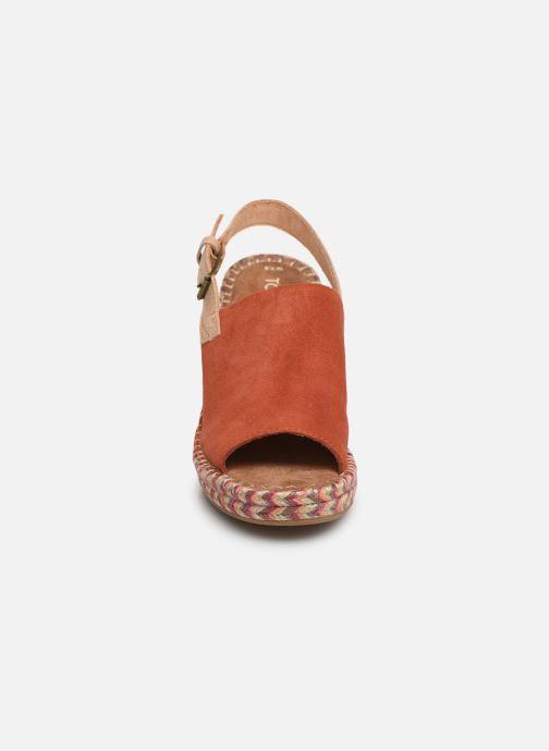 Espadrilles TOMS Monica Rouge vue portées chaussures