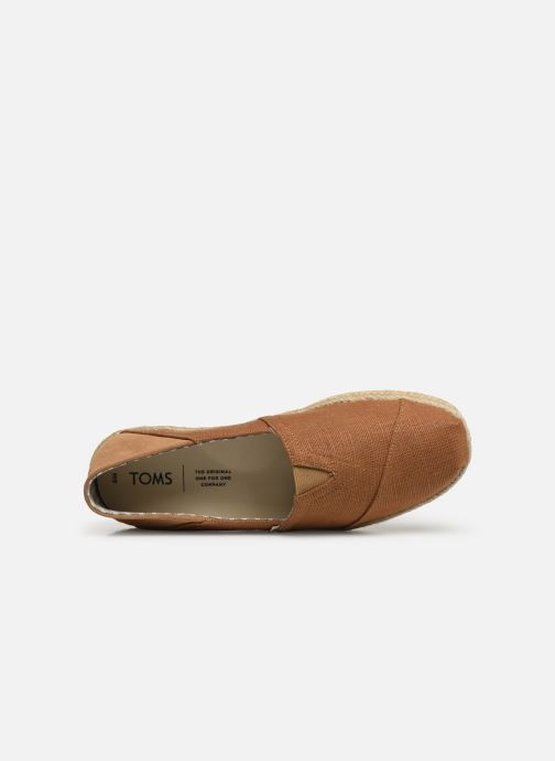Espadrilles TOMS Alpargata Convertible on Rope Brown view from the left