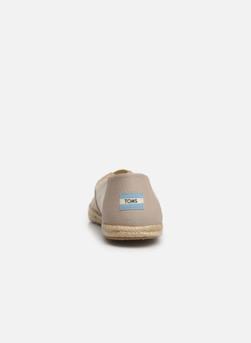 Espadrilles TOMS Alpargata M Grey view from the right