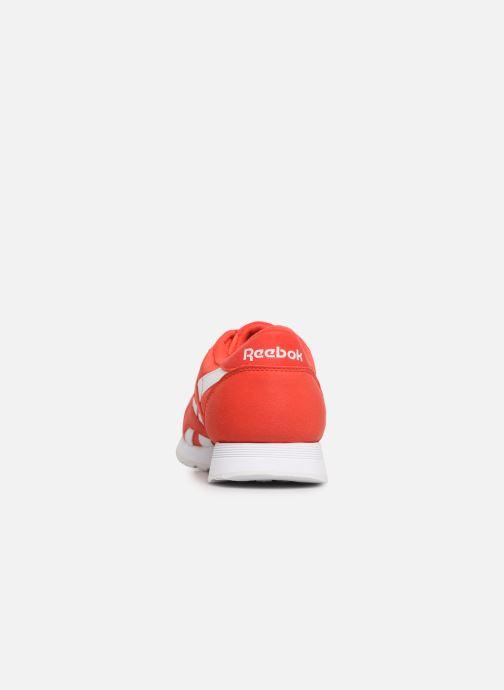 Deportivas Reebok Classic Nylon Color Rojo vista lateral derecha