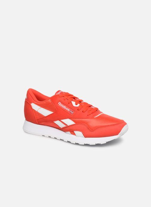 Deportivas Reebok Classic Nylon Color Rojo vista de detalle / par