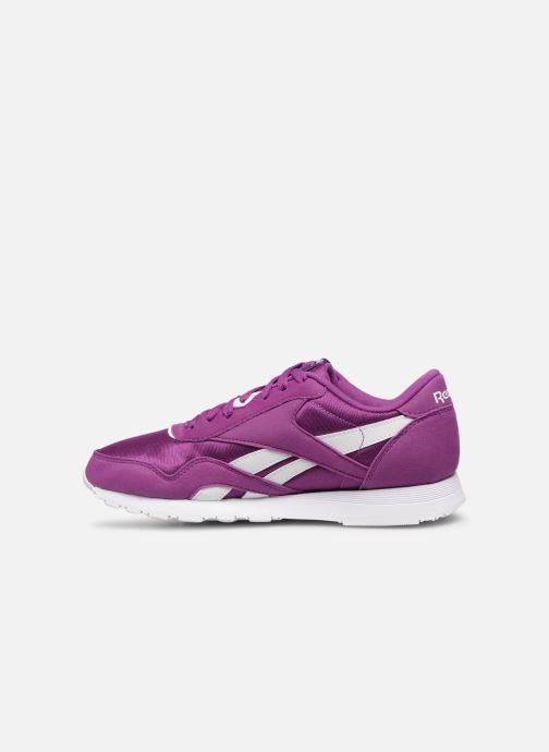 Deportivas Reebok Classic Nylon Color Violeta      vista de frente