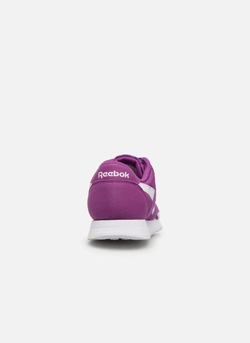 Deportivas Reebok Classic Nylon Color Violeta      vista lateral derecha