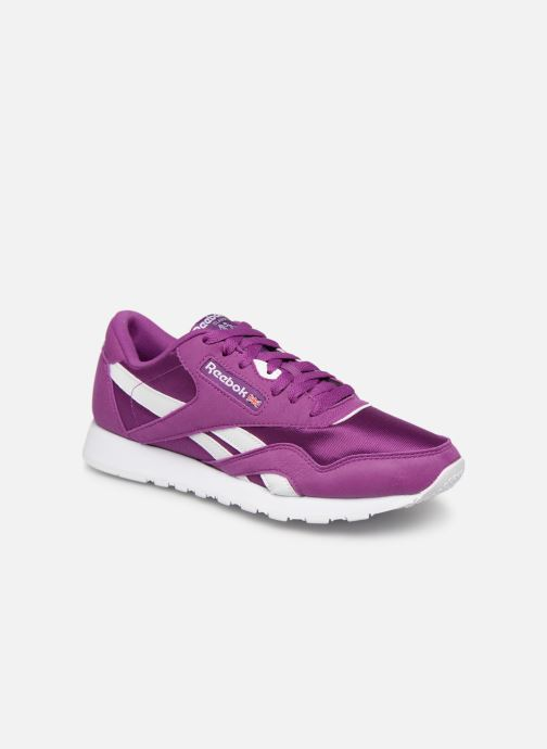 Baskets Reebok Classic Nylon Color Violet vue détail/paire