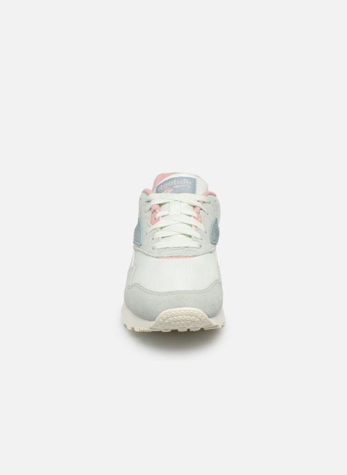Sneaker Reebok Rapide grün schuhe getragen