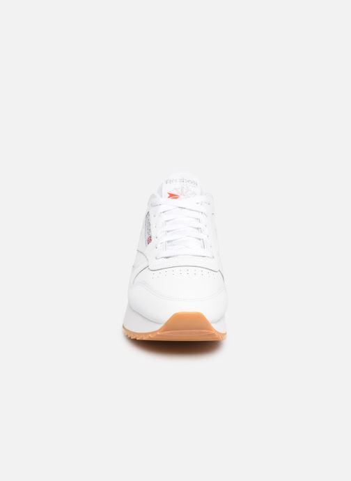 Sneaker Reebok Classic Leather Double weiß schuhe getragen