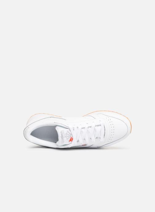 Baskets Reebok Classic Leather Double Blanc vue gauche