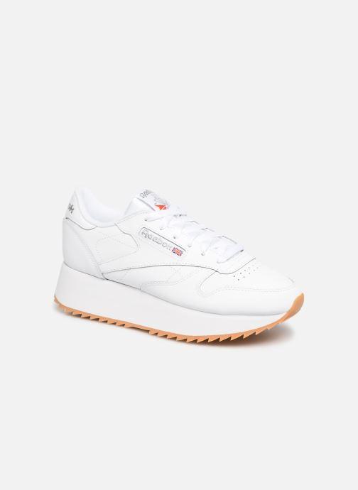 best website b63b1 89c8a ... Chaussure femme · Reebok femme  Classic Leather Double. Baskets Reebok  Classic Leather Double Blanc vue détail paire