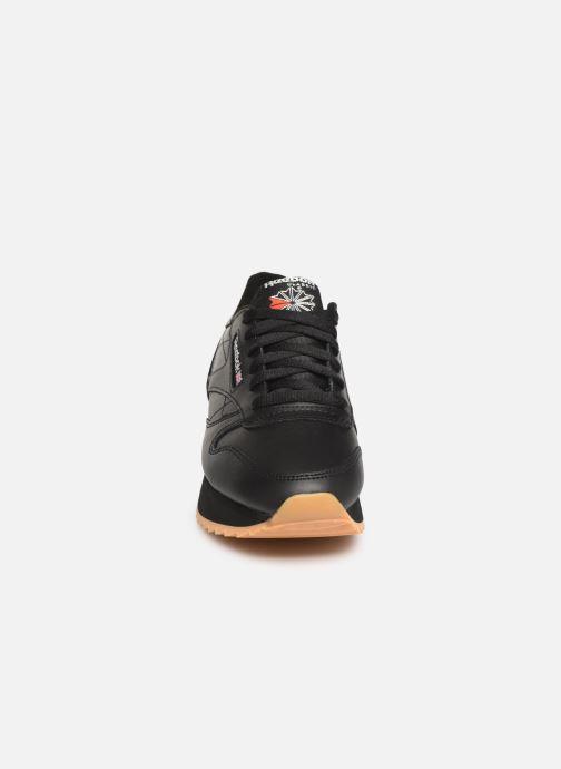 Sneaker Reebok Classic Leather Double schwarz schuhe getragen
