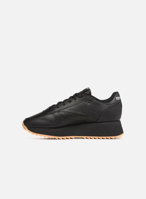 Sneaker Reebok Classic Leather Double schwarz ansicht von vorne