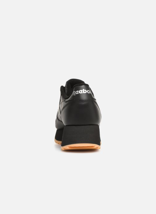 Sneaker Reebok Classic Leather Double schwarz ansicht von rechts