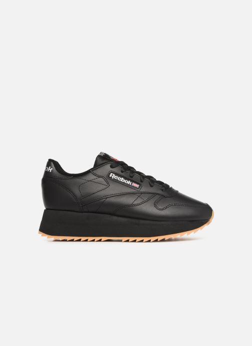 Sneaker Reebok Classic Leather Double schwarz ansicht von hinten