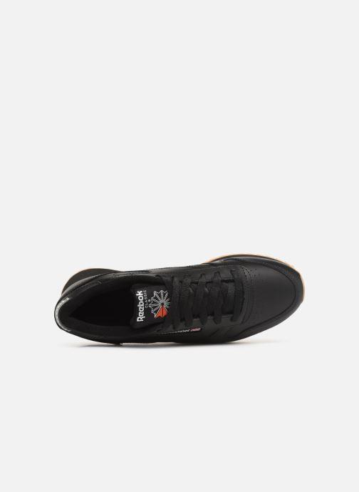 Baskets Reebok Classic Leather Double Noir vue gauche