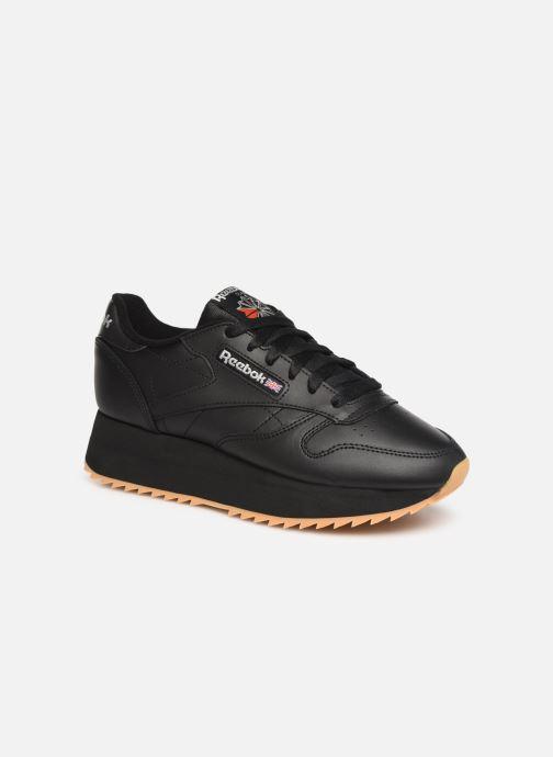 60c3b55f166b8 Reebok Classic Leather Double (Noir) - Baskets chez Sarenza (347211)
