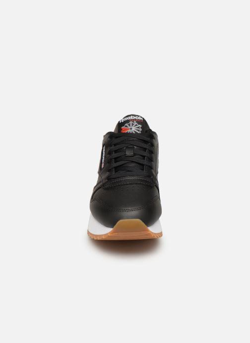 Deportivas Reebok Classic Leather Double Negro vista del modelo
