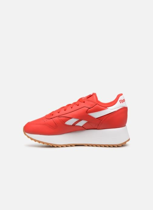 Baskets Reebok Classic Leather Double Rouge vue face