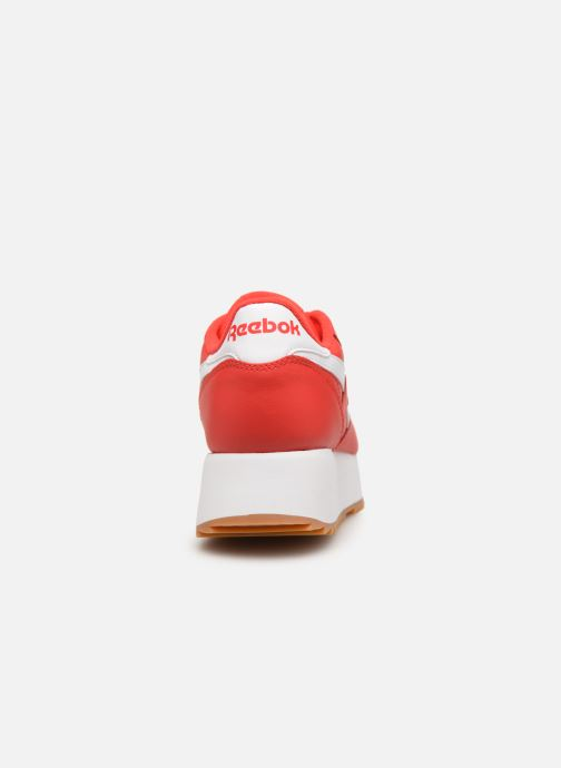Baskets Reebok Classic Leather Double Rouge vue droite