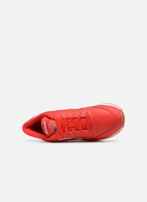Baskets Reebok Classic Leather Double Rouge vue gauche