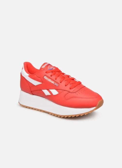 Baskets Reebok Classic Leather Double Rouge vue détail/paire
