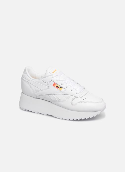Reebok Classic Leather Double (Blanc) Baskets chez Sarenza