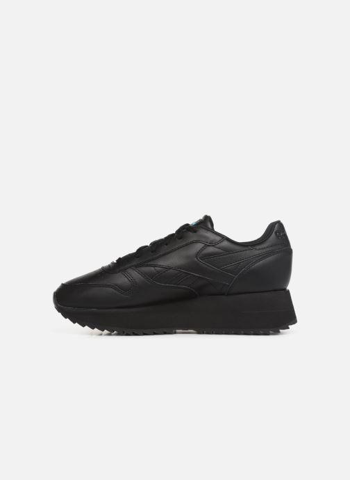 Deportivas Reebok Classic Leather Double Negro vista de frente