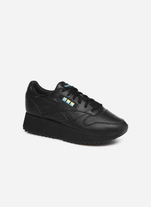 Baskets Reebok Classic Leather Double Noir vue détail/paire
