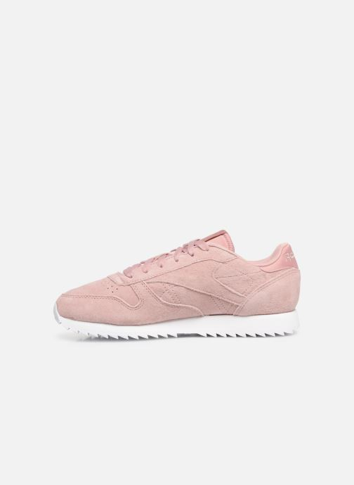 Baskets Reebok Classic Leather Ripple Rose vue face