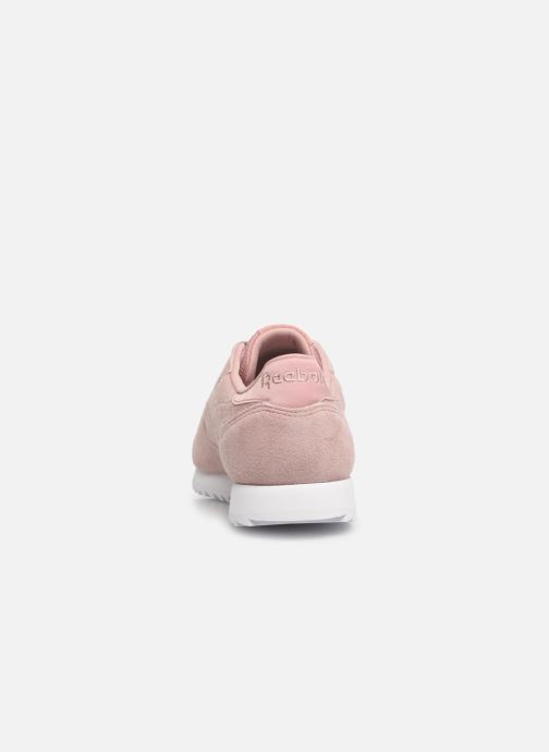 Baskets Reebok Classic Leather Ripple Rose vue droite