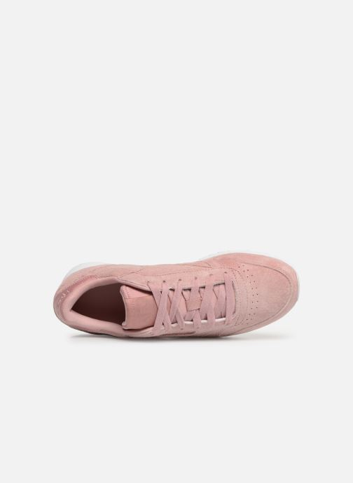Baskets Reebok Classic Leather Ripple Rose vue gauche