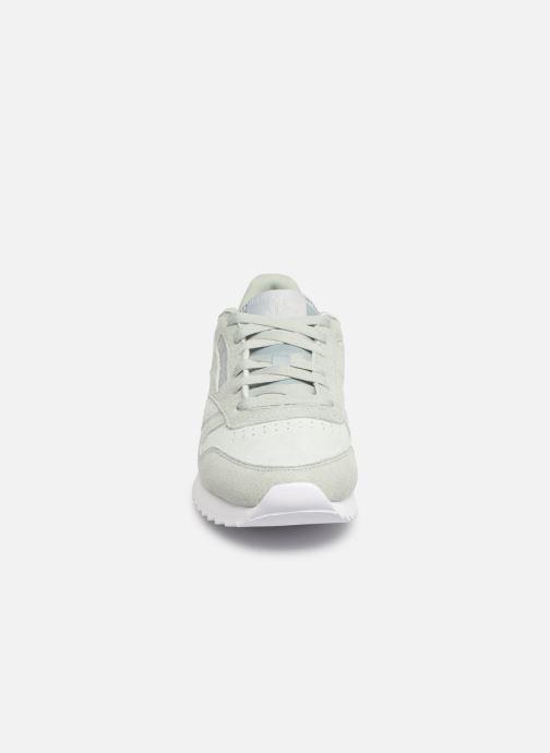 Baskets Reebok Classic Leather Ripple Vert vue portées chaussures