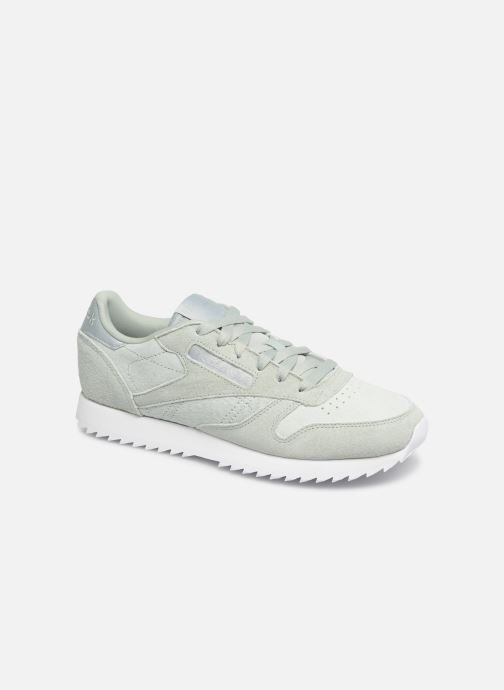 Baskets Reebok Classic Leather Ripple Vert vue détail/paire