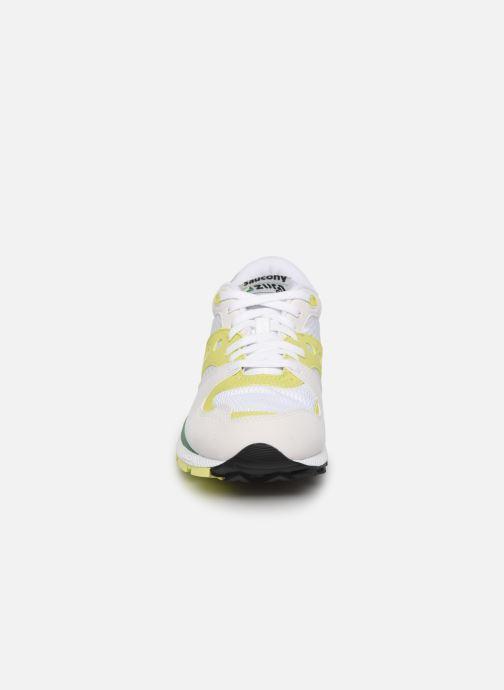 Baskets Saucony Azura W Blanc vue portées chaussures