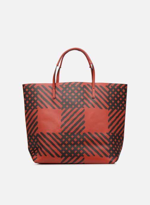 Sacs à main Vivienne Westwood Crini Check Leather Shopper Rouge vue face