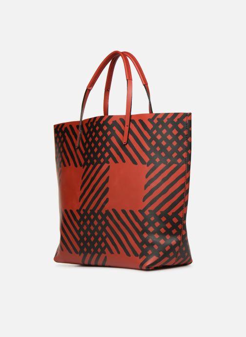 Sacs à main Vivienne Westwood Crini Check Leather Shopper Rouge vue droite