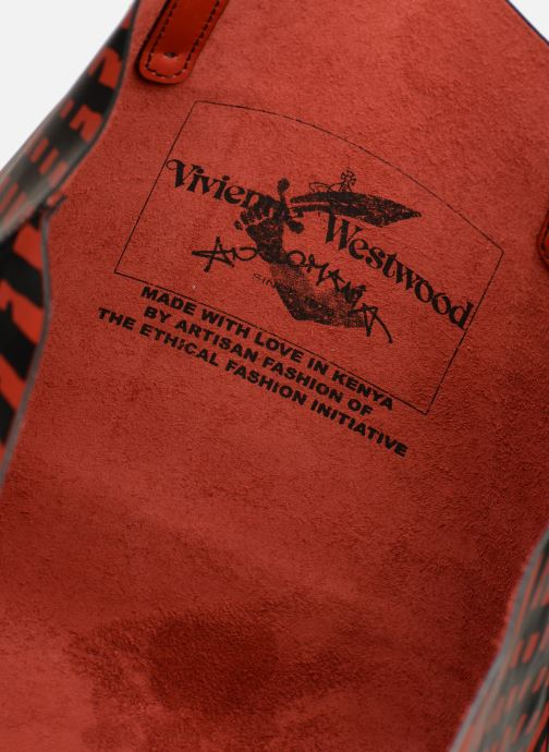 Sacs à main Vivienne Westwood Crini Check Leather Shopper Rouge vue derrière