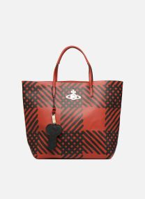 Crini Check Leather Shopper