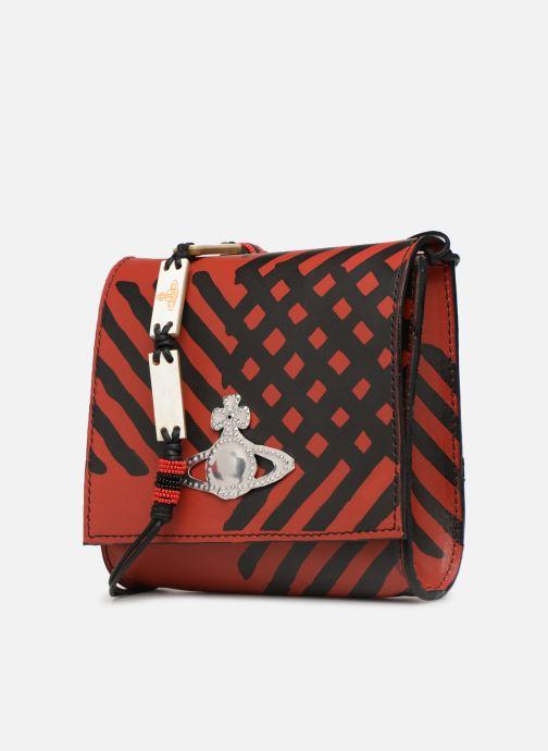 Sacs à main Vivienne Westwood Crini Check Leather Crossbody Rouge vue portées chaussures