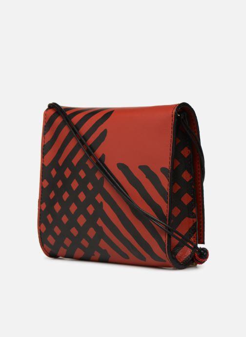 Sacs à main Vivienne Westwood Crini Check Leather Crossbody Rouge vue droite