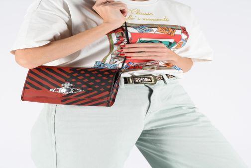 Sacs à main Vivienne Westwood Crini Check Leather Crossbody Rouge vue bas / vue portée sac
