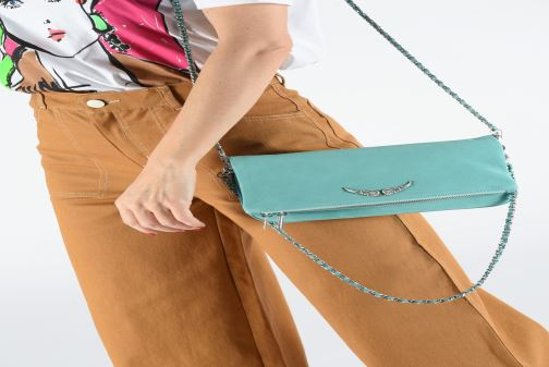 Bolsos de mano Zadig & Voltaire ROCK SUEDE Azul vista de abajo