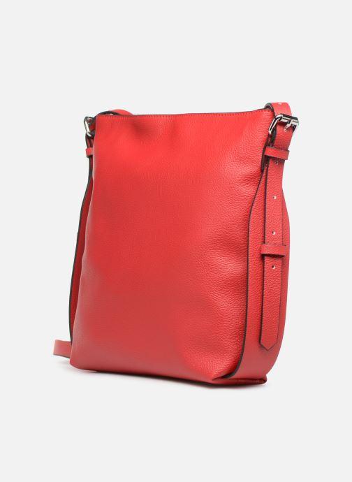 Sacs à main Esprit Liz Middle Shoulder Bag Rouge vue portées chaussures