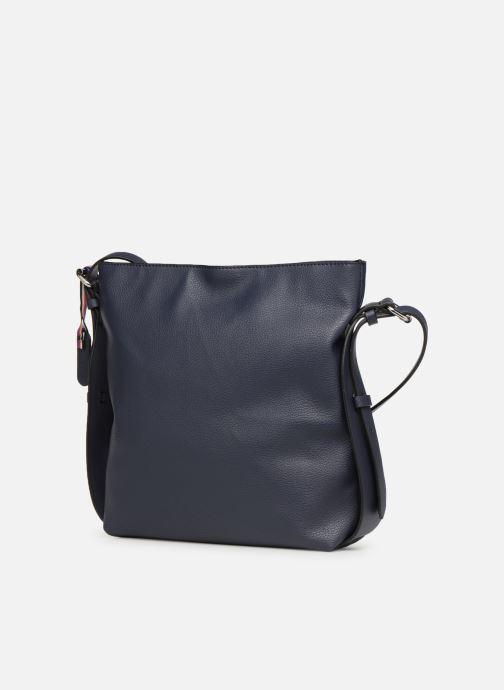 Sacs à main Esprit Liz Middle Shoulder Bag Bleu vue portées chaussures