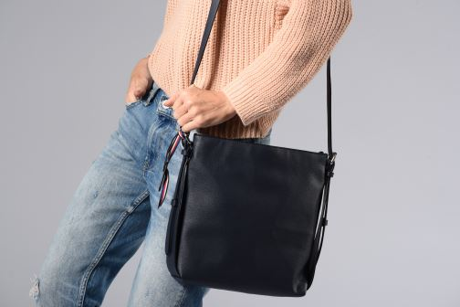 Sacs à main Esprit Liz Middle Shoulder Bag Bleu vue bas / vue portée sac
