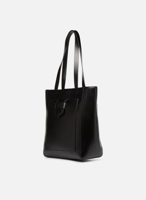 Sacs à main Esprit Lara Shopper Noir vue portées chaussures